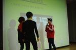 고양관산초등학교 스마트폰중독예방교육 역할극하는 장면이다.