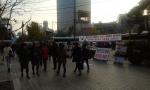 애국주의연대가 5일 오후 광화문 동아일보 앞에서 통합진보당 해체 촉구 사진전을 개최하고 있다.