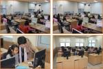 학생들이 헤라리딩영어센터에서 공부를 하고 있다.