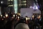 애국주의연대가 지난해 11월 23일밤 광화문 한국kt 앞에서 연평도 포격사건 2주기 순국장병 촛불추모제를 개최했다.