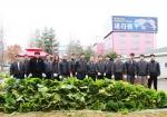 세라젬 나눔이 있는 텃밭에서 직접 재배한 배추를 수확한 (좌측으로 9번째)세라젬 이인규 대표이사와 임직원들. 이날 수확한 800여 포기의 배추는 김장김치 나눔 행사에 사용되었다.