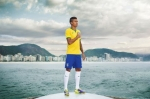 Luiz Gustavo unveils NIKE's new Brasil Kit today in Rio.