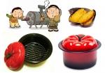 군구마, 군밤 등을 태우지 않도록 스팀 방식을 채택한 토마토 직화구이냄비