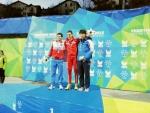 이진영 선수 동메달 시상식 장면