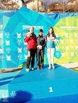 김보름 선수 금메달 시상식 장면