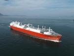 대우조선해양이 지난 2010년 건조, 벨기에 엑스마 사에 인도한 LNG 재기화운반선(LNG-RV)의 시운전 모습