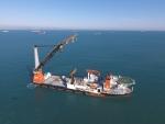 미국의 마린로그지로부터 올해 최우수 선박으로 선정된 히레마 社의 심해 파이프설치선 에기르(Aegir)호의 모습