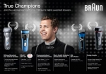 True Champions Join the winning team with one of Braun's highly awarded shavers