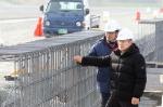 박승호 포항시장이  KTX공사현장을 점검하고, 관계자들을 격려했다.