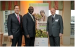 Rob Smith, AGCO Senior Vice President & General Manager Europe, Africa and Middle East, John Agyekum Kufuor, Former President of Ghana & Chairman of The John A. Kufuor Foundation and Martin Richenhagen, AGCO Chairman, President & CEO at the AGCO Afri...
