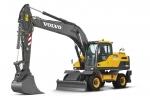 볼보건설기계코리아가 20톤급 휠 굴삭기 EW205D를 출시했다.