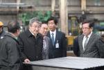 박승호 시장은 흥해읍 소재 (주)삼정산업을 방문했다.