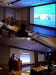 민트영상의학과 배재익 원장(위)과 김재욱 원장(아래)이 IICIR 2014에서 외국인 의료진을 대상으로 인터벤션 강연을 하고 있다.