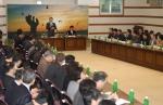박승호 포항시장이 마지막 확대간부회의를 주관했다.