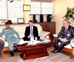Colonel Abdul Rahman Al Hammadi during the meeting with Mr. Mark Gilmore