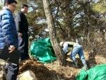 김재홍 포항시 부시장이 시장 권한대행 첫날인 지난 6일 오전 소나무재선충 방제사업지 현장점검에 나섰다.