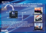 Micrel Offers New Generation of Miniature High Side Load Switches Capable of Delivering up to 3A in 1mm x 1.5mm Package