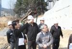 포항시 김재홍 부시장이 해빙기 대비 이동 배수지 공사현장을 방문했다.