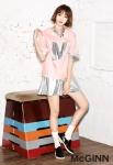 여성의류브랜드 매긴이 메인 모델로 활동중인 고준희와 함께 개성 넘치는 McGINN X 고준희 콜라보레이션 라인을 선보였다.