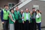 지난 3월 무지개 밥상 봉사활동에 함께 한 골프웨어 그린조이 최순환 회장과 임직원들