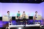 한국로슈 힐링 갤러리 시즌 4 힐링 토크쇼에서는 이성미와 이남옥 교수가 유방암 환우의 사연을 소개하고 힐링 메시지를 전하고 있다