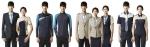 좌측부터 정장근무복(의전·주차관리 등 운영부문), 현장근무복(시설·기술 부문), 경비근무복, 검색근무복