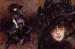 조반니 볼디니(Giovanni Boldini)의 마르케사 루이자 카사티와 그레이 하운드(Portrait of the Marchesa Luisa Casati with a greyhound, 로마국립근대미술관 소장)