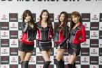 핸즈코퍼레이션이 모터스포츠 활동을 위한 전속모델 계약을 체결했다. (왼쪽부터 류지혜, 은빈, 김하율, 허윤미)