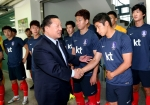 김정행 대한체육회장이 2014 브라질 월드컵 축구 국가대표팀을 격려 방문했다.