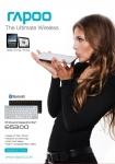 로이체가 자사의 대표 브랜드인 RAPOO 브랜드 블루투스 키보드 중 주력상품의 가격을 최대 23%까지 인하한다.