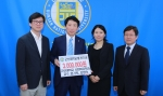 군산대 엄기욱·강영숙 교수가 대학발전기금 300만원을 기부했다.