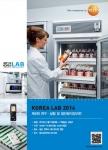 테스토코리아가 KOREA LAB 2014에 참가해 무선 온습도 모니터링 시스템 등 연구·실험에 최적화된 측정기 선보인다.