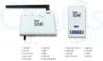 이번에 개발한 2.4GHz 대역의 주파수를 사용하는 휴대용 양방향 근거리 오디오 통신 솔루션 탐소리 코러스는 1대의 수신기로 최대 4명까지 혼선 및 잡음 없이 동시에 사용할 수 있다.