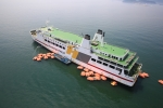 한일고속은 완도-제주 여객선 한일카훼리1호의 구명뗏목(구명벌) 40개에 대한 일제 안전검사를 16일 여수 앞바다에서 실시하였다.