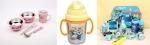 릴팡 캐릭터 식기: 왼쪽부터 겨울왕국 식기세트, 뽀로로 양수 스텐 물컵, 꼬마버스 타요 제품 모음