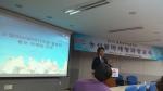 (주)직거래 김석 이사가 소셜미디어를 활용한 농산물 마케팅 전략을 주제로 특강을 하고 있다.