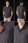 넬슨이 뛰어난 기능성과 깔끔한 스타일로 쿨-비즈에 손색없는 아크테릭스 스카이라인 셔츠를 선보이고 있다.