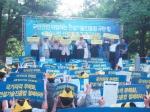 한국기술사회가 16일(수) 오후 5시 30분 서울 역삼동 역삼공원 과학기술회관 앞에서 '국민안전 위협하는 건설기술진흥법 규탄 및 기술사법 선진화 촉구 2차 궐기대회'를 개최했다.