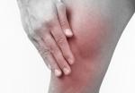 슬개골 연골연화증 환자의 무릎통증 부위.