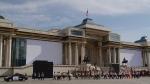 나담축제의 시작을 알리는 기마병 사열식이 열리는 칭기스칸 광장
