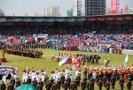 대규모 매스게임과 퍼레이드가 함께하는 나담 축제의 개막식