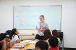 한국 Awana(어와나)의 어린이 여름캠프 영어수업 진행 모습