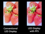 기존 LED 디스플레이와 PFS 적용 LED 디스플레이 비교