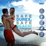 듀렉스가 안전한 해변 만들기 캠페인인 Safe Durex, Safe Beach를 진행한다.
