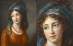 비제-르브룅(Marie Louise Elisabeth Vigee-Lebrun)의 아글라에 드 폴리냑(Portrait d'Aglaé de Gramont, née de Polignac, duchesse de Guiche, 1794)