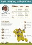 충남발전연구원이 교황 방문 안내 인포그래픽을 제작했다.