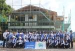볼보건설기계코리아 임직원들이 여름휴가를 반납하고 14년간 지속적으로 2014사랑의 집 짓기(해비타트)에 참가하고 있다.