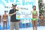5일 해운대 스마트비치에서 개최된 한돈 쿨쿨 페스티벌에서 한돈 몸짱 컨테스트 참가자들이 각자 포즈를 선보이고 있다.