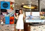삼성전자 모델이 중소형 자영업자들을 위한 새로운 타입의 비지니스TV '삼성 스마트 사이니지 TV'를 소개하고 있다.