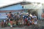 하이서울유스호스텔 대학생 해외봉사단이 필리핀 바세코에서 봉사활동을 하고 있다.